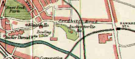 Auchentorlie House  1923 map - click for larger version