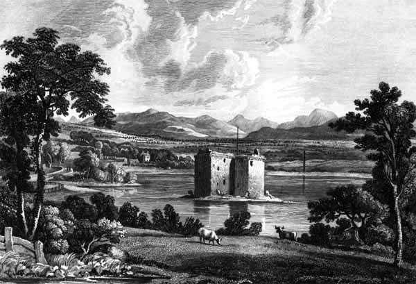 Stanely Castle engraved by wh lizars - click for larger version